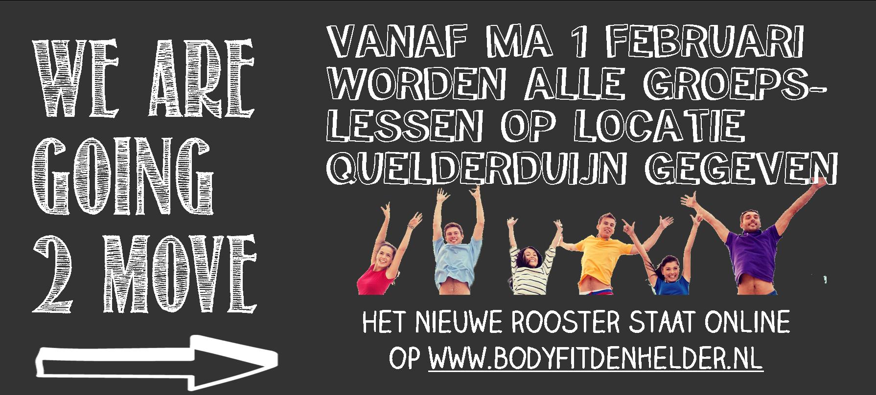 Alle groepslessen v.a. 1 feb in Quelderduijn!